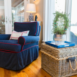 coastal haven design | coastalhavendesign.com | chair and wicker table