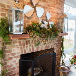 coastal haven design | coastalhavendesign.com | fireplace and mantle holiday decor
