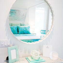 coastal haven design | coastalhavendesign.com | the dye girls room mirror and vanity