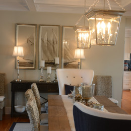 coastal haven design | coastalhavendesign.com | dining room lighting