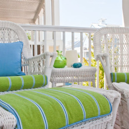 coastal haven design | coastalhavendesign.com | porch with wicker furniture