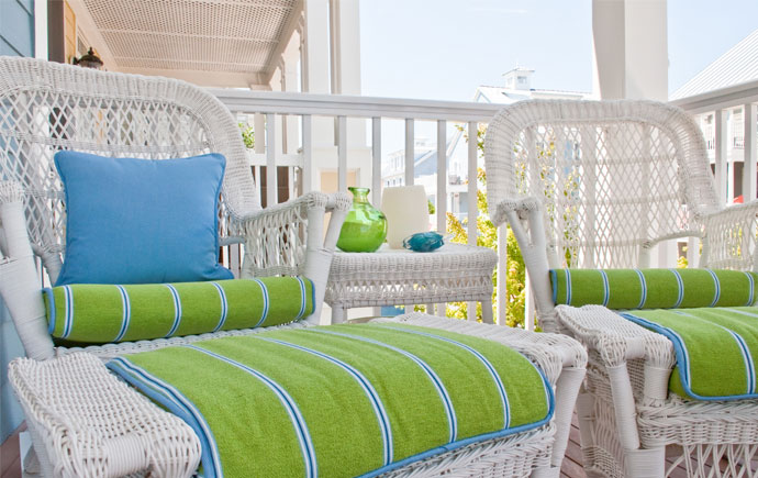 coastal haven design | coastalhavendesign.com | porch with wicker furniture