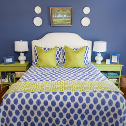 coastal haven design | coastalhavendesign.com | blue and green bedroom