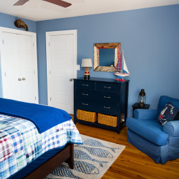 coastal haven design | coastalhavendesign.com | blue plaid bedroom