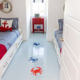 coastal haven design | coastalhavendesign.com | boy's room crab decor