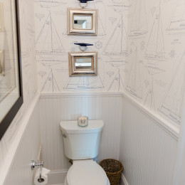 coastal haven design | coastalhavendesign.com | toilet and wallpaper bathroom