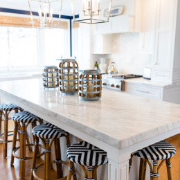 coastal haven design | coastalhavendesign.com | kitchen island outward