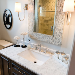 coastal haven design | coastalhavendesign.com | bathroom vanity and mirror