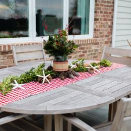 coastal haven design | coastalhavendesign.com | outdoor table centerpieces