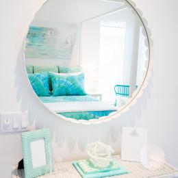 coastal haven design | coastalhavendesign.com | the dye girls room mirror and vanity