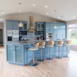 coastal haven design | coastalhavendesign.com | kitchen island, blue