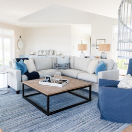 coastal haven design | coastalhavendesign.com | blue living room