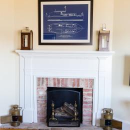 coastal haven design | coastalhavendesign.com | fireplace and mantle decor