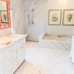 coastal haven design | coastalhavendesign.com | white marble bathroom