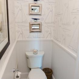 coastal haven design | coastalhavendesign.com | toilet and wallpaper bathroom